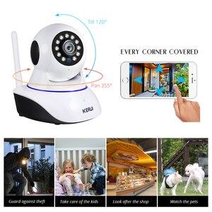 Image 3 - KERUI בית אבטחת 1080P HD IP מצלמה מקורה אלחוטי Wifi מעקב עם ראיית לילה אינפרא אדום רשת אינטרנט מצלמה