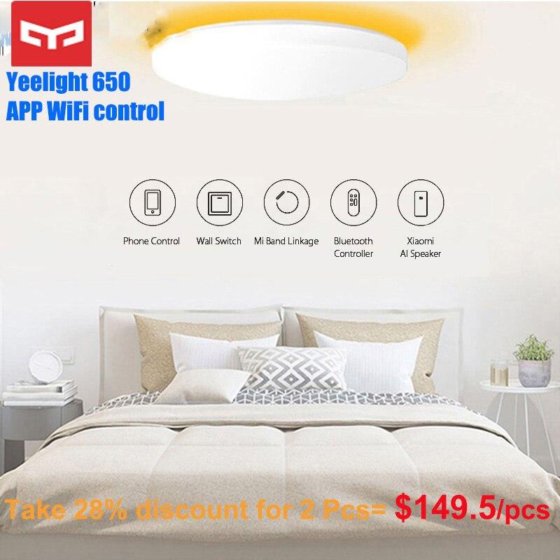 Ambiente Circundante APP Controle Yeelight JIAOYUE 650 WiFi Bluetooth Original Controle Inteligente de Iluminação LED Luz de Teto 200-240V