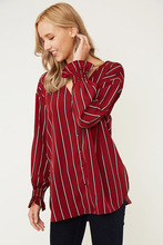 Autumn Striped V-neck New Maternity Shirt Long Sleeve Loose See Through Top Women Sexy Tops Wear