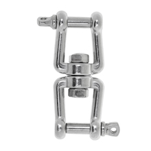 Marine Stainless Steel Anchor Chain Connector Swivel Jaw Double Shackle- M5 Swivel for Boat 7 inch marine boat seat swivel coated mount base chair swivel plate set