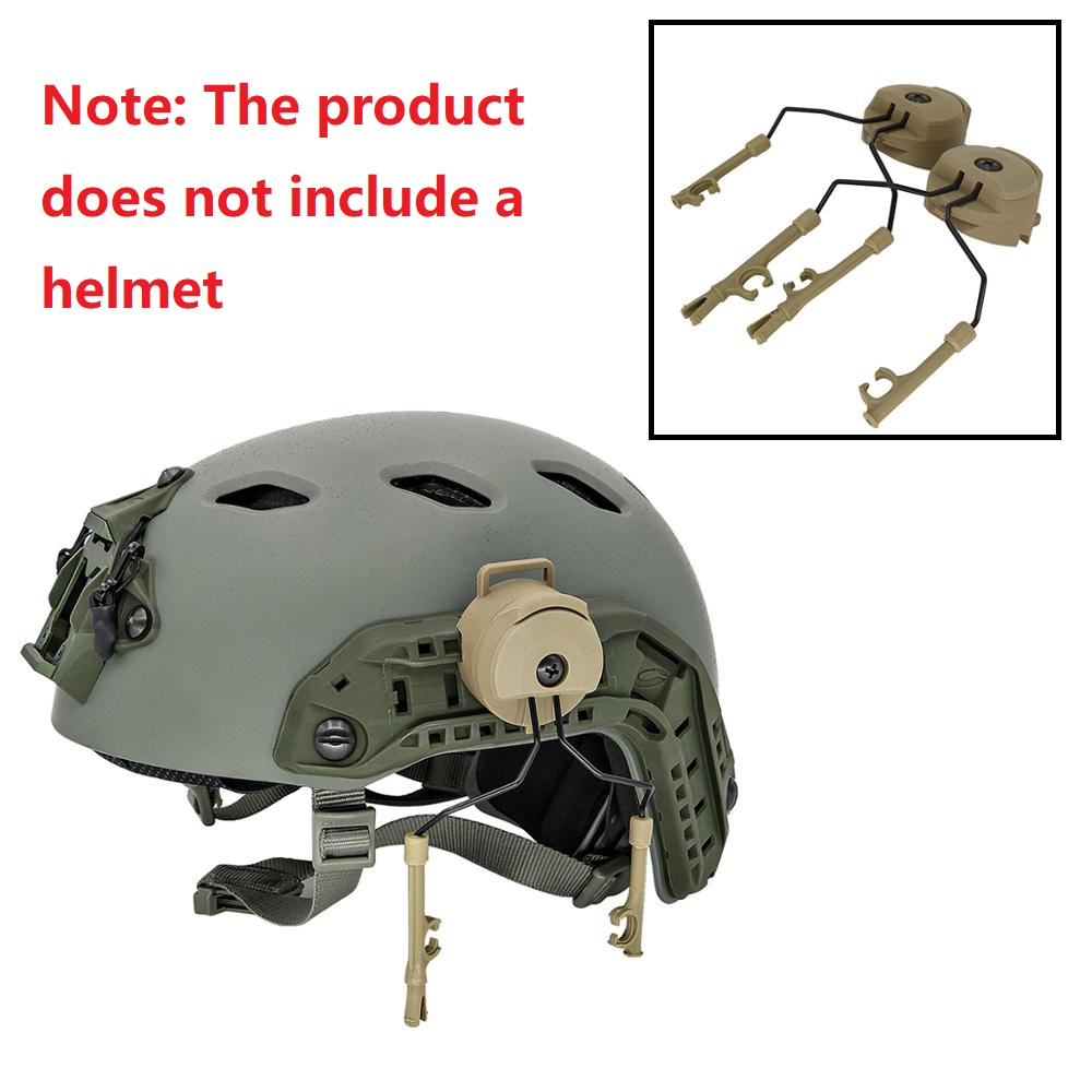 ARC Rail Adapter Helmet Headset Left & Right Side Attachments For Peltor Comtac I II III Tactics Headphones,1 Pair