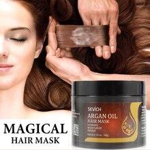 Маска для ухода за волосами Sevich с аргановым маслом, увлажняющая, восстанавливает поврежденные корни волос, 80 г, кератиновая Бриллиантовая м...