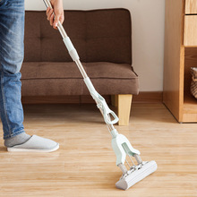 flat mop high quality aluminum alloy mop floor mop cleaning tool stainless steel rod Strong Floor Mop Absorbent Sponge Mop Stainless Steel Handle  Home Floor Cleaning Tool Household Clean Absorbent Sponge Mop