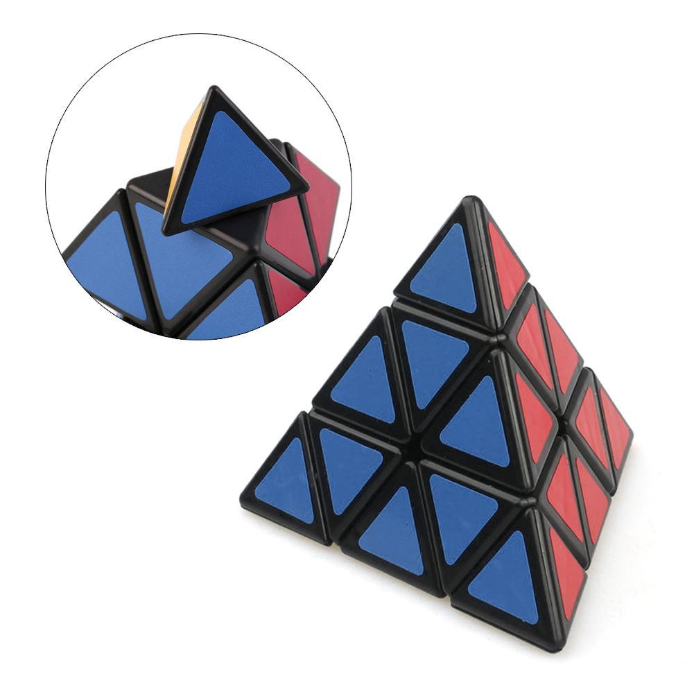 Fashion Pyramid Triangle Speed  Block Magic Game Educational Toy Gifts Triangle Pyramid Magic Cube 3x3x3 Puzzle Speed Cubes