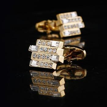 High-end Luxury Men's French  Crystal Cufflinks  1