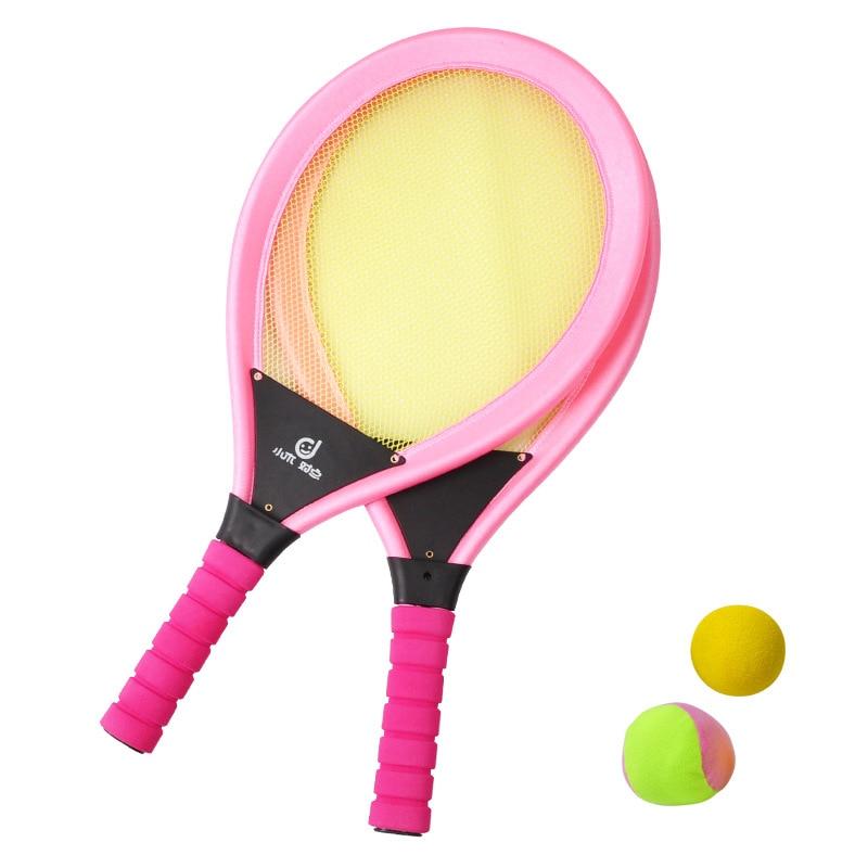 Jeu de raquettes de Tennis pour enfants, jeu de balles de raquettes de Tennis de Badminton NBR, jeu de jouets pour enfants, jeu à la plage ou à la pelouse