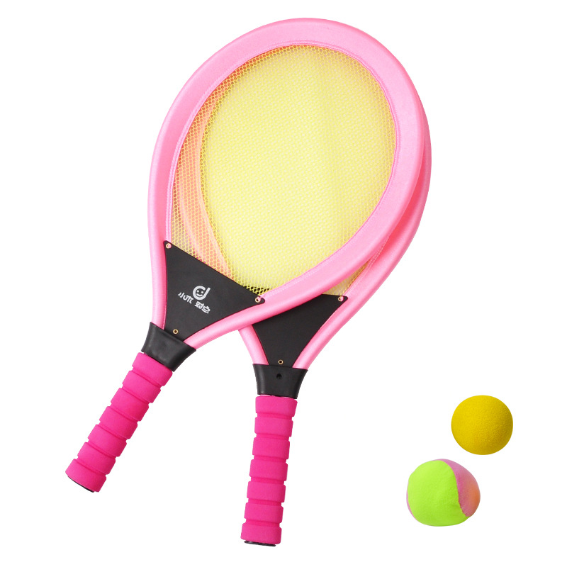 Kids Tennis Racket Set, NBR Badminton Tennis Rackets Balls Set, Kids Racket Play Game Toy Set, Play at the Beach or Lawn