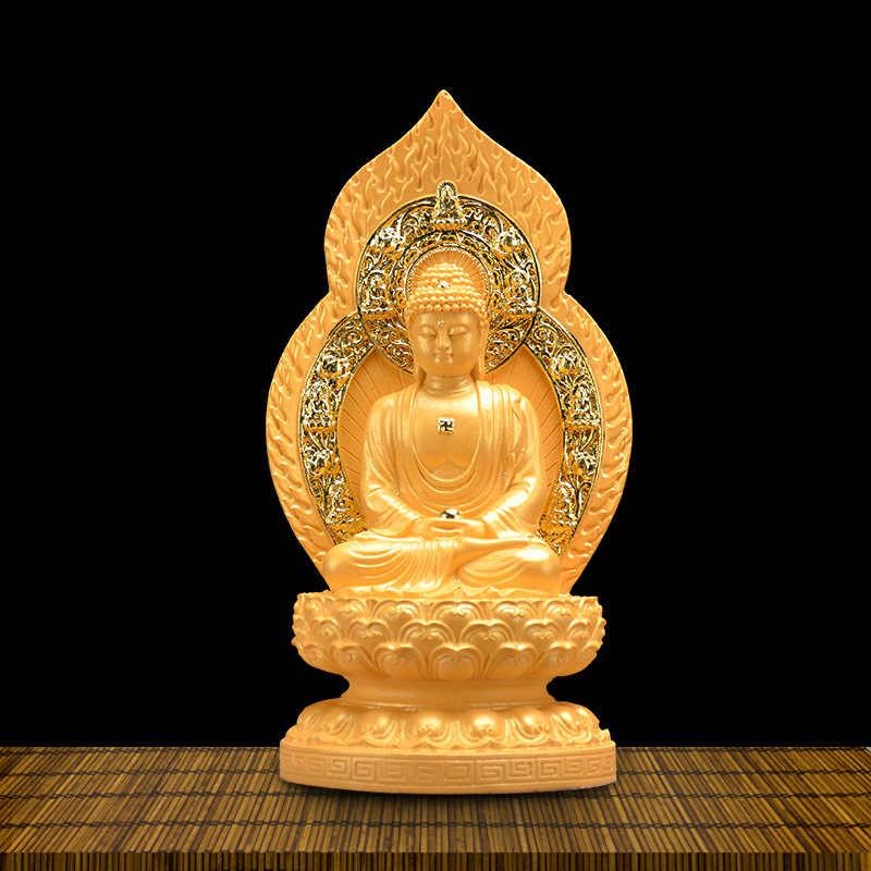 Veludo de Ouro de Aluvião Kshitigarbha Bodhisattva Estátua de Buda Guanyin Resina Artesanato Budismo Fornece Estilo Chinês Decoração Fabricante