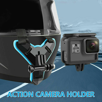 Motorcycle Helmet Chin Stand Mount Holder Action Sports DVR Camera Support Holder Bracket For GoPro Hero 8 7 6 5 4 3 For Xiaomi image