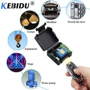 Image 3 - Kebidu 12V RF Sender Schalter 433Mhz Fernbedienungen Mit Wireless Fernbedienung Schalter Licht Relais Empfänger Modul 1PCS
