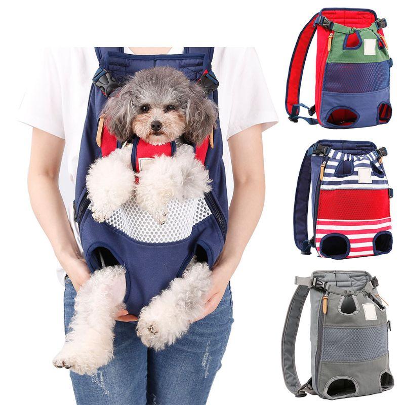 Pet Carrier Backpack Pet Front Cat Dog Carrier Adjustable Legs Out Travel Bag