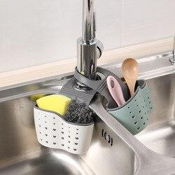 2pcsCreative podwójna warstwa zlew torba do zawieszenia uchwyt kuchenny do przechowywania kran pojemnik na gąbkę wiszący kosz kosz spustowy KitchenGadgets|Durszlaki i sitka|   -