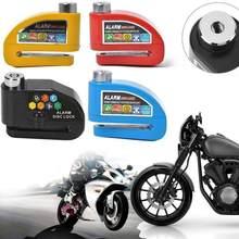 Motocicleta alarme bloqueio de freio rotor bloqueios moto moto scooter anti-roubo roda bloqueio de freio a disco à prova dwaterproof água proteção de alarme de segurança