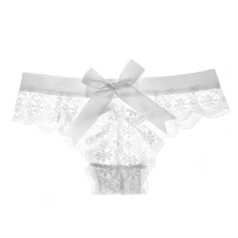 Seksowne kobiety bielizna G String koronkowa bielizna Femal SEXY t-back stringi Sheer figi Japan Style gorąca sprzedaż przezroczyste figi