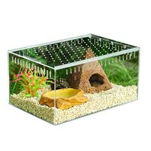 Transparent Reptile Box Assembled Reptile Terrarium Durable Transparent Acrylic Cold Blooded Animals Box Pets Insect Supplies аксессуары для рептилии ming insect reptile supplies