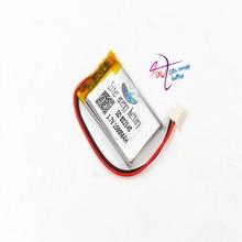 Jst xh 2.54mm 802540 3.7 v 1000 mah 리튬 폴리머 배터리 852540 스캔 코드 악기 스피커 구동 장치