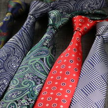 Silk-Ties Polyester Jacquard Paisley Business Wedding-Party Plaid Striped NEW Woven Men
