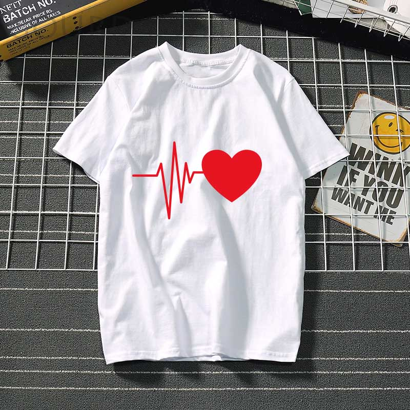 Women's t-shirt Harajuku love t shirt women feminina ladies Than heart ulzzang graphic t shirts women 2019 summer femme clothes 4