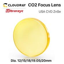 цена на Ultrarayc Focus Lens USA CVD ZnSe DIA 12 15 18 19.05 20 FL 38.1 50.8 63.5 76.2 101.6 127mm for CO2 Laser Engraving Cutting