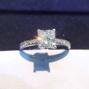 Женские свадебные кольца CC с кубическим цирконием, белое золото, модное ювелирное изделие, обручальное кольцо с S925 штампом, Прямая поставка