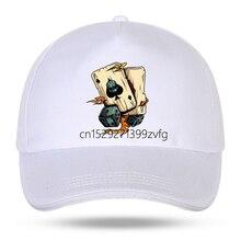 Бейсболка для мужчин и женщин, хлопковая кепка-липучка с принтом игральных костей, в стиле хип-хоп, летняя