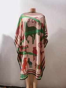 Image 3 - Dress Length:100cm Bust:140cm  African Dashiki New Fashion Design short dress oversized Plus Famous Brand Loose For Lady/women