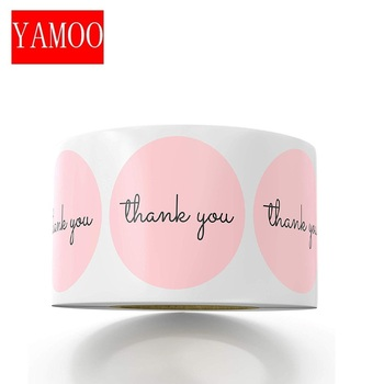 Thank You Stickers 1inch Pink Stickers for Company Giveaway & Birthday Party Favors Labels & Mailing Supplies Festival 1