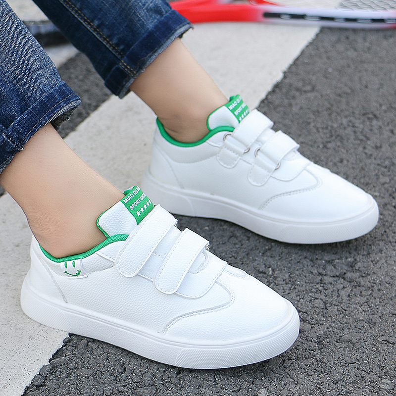 Casual Children Sneakers For Boys Sports Shoes Kids Flats Fashion Soft Comfortable Non-Slip Classic White Shoes Girls Trainers