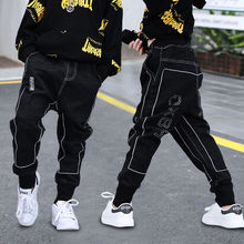 Baby Girls Boys Jeans Demin Legging Elastic Menina Blue/Black Pants Children Cotton Trouser For Kids Clothes 1 2 3 4 5 6 Years