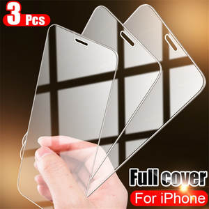 Full Cover Glass on the For iPhone 7 8 6 6s Plus Tempered Glass For iPhone X XS Max XR 5 5S SE 11 Pro Max Screen Protector
