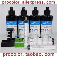 CISS Inkjet cartridge Dye ink refill kit for HP63 hp 63XL  63 BK Colour DeskJet 1112 2130 2132 3630 3632 office 5220 ink Printer