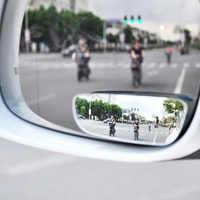 Espejo retrovisor de coche sin marco, accesorio de cristal ajustable de 360 grados, para marcha atrás, gran angular, auxiliar, para punto ciego, 2 uds.
