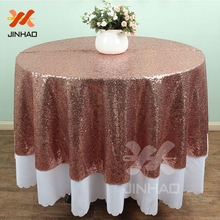 72inch Sequin Tablecloth Wedding Round  For Birthday Party Dinning Catering