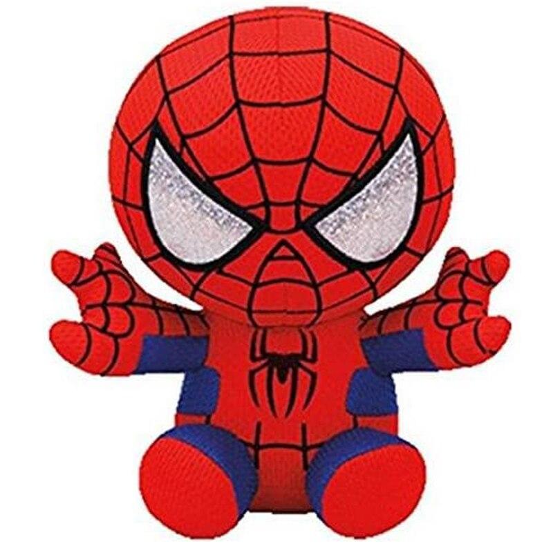 Ty Beanie Babies Marvel araña de peluche juguetes de peluche 15cm Set de instrumentos musicales de percusión de 19 Uds., juguetes educativos de ritmo y música para niños, conjunto de banda de sonajeros de madera, juguetes para niños, regalo