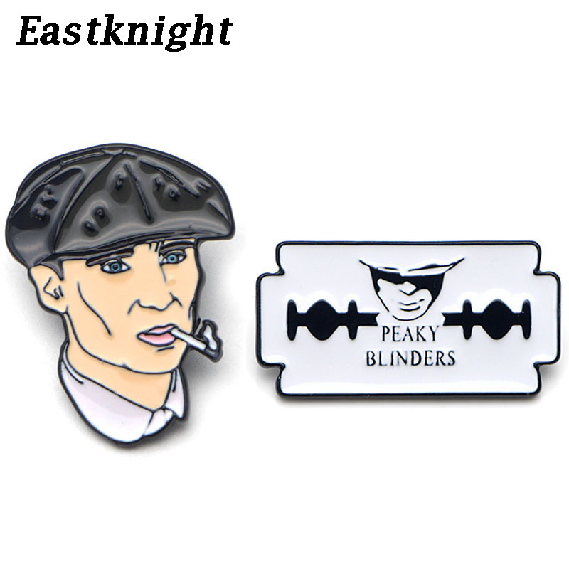 K79 High Quality Peaky Blinders TV Metal Enamel Paint Badge Pins & Brooches Jewelry Cool Gifts For Fans 1pcs