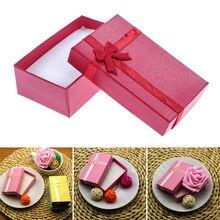 Świecąca biżuteria Box naszyjniki kolczyki bransoletki pudełka pakowanie prezentów wyświetlacz hurtowy klasyczny Bowknot 1 sztuka