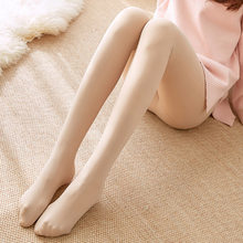 Hot 2019 Autumn Winter Women's Tights Natural Color Plus Plush Warm Thick Pantyhose Super Slim Elastic Sexy Tights One Size(China)