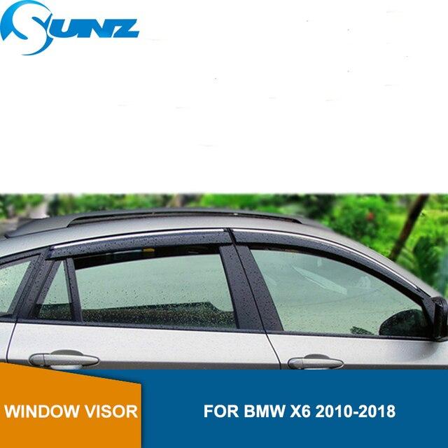 Fenster Visier für BMW X6 2010 2018 Seite fenster deflektoren regen guards für BMW X6 2010 2018 SUNZ