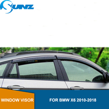 חלון Visor עבור BMW X6 2010 2018 צד חלון deflectors גשם משמרות עבור BMW X6 2010 2018 SUNZ