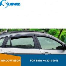 Visor de ventana para BMW X6 2010 2018, deflectores de ventana laterales, protectores de lluvia para BMW X6 2010 2018 SUNZ