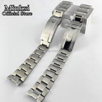 Miuksi 20mm 316L solide edelstahl uhr band falten schnalle fit 40mm uhr fall mens strap-in Uhrenbänder aus Uhren bei
