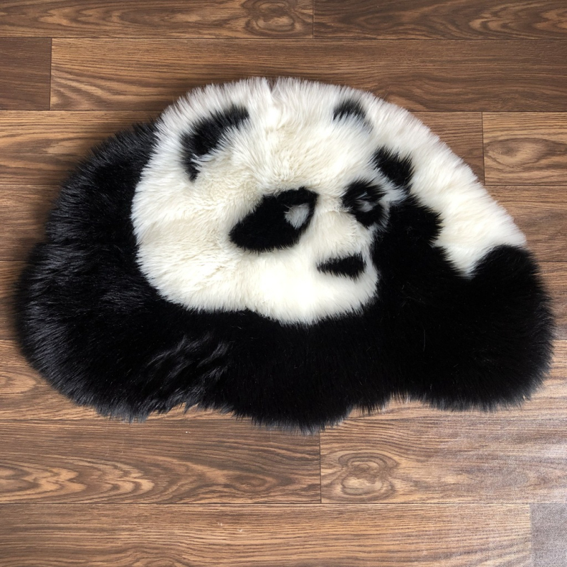 Animal Panda Style Soft Rug Anti-Skid Mat Home Shaggy Carpet Area For Living Room Bedroom Bathroom Baby Lovely Panda Rug 80*54cm