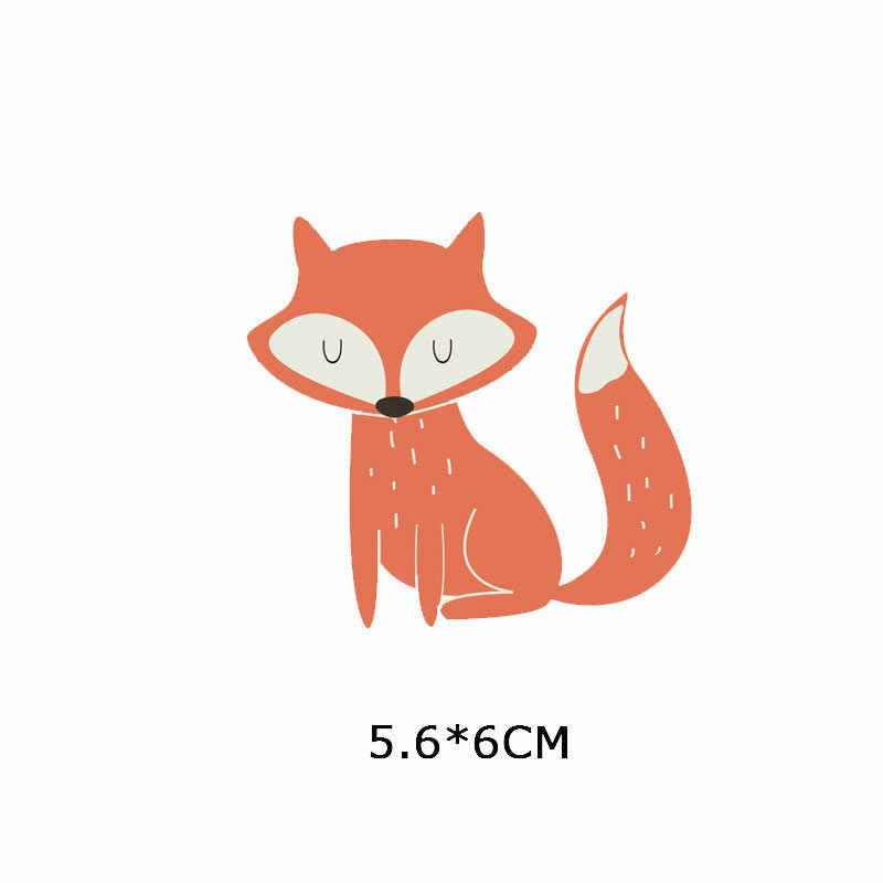 Zotoone Ijzer Op Leuke Vos Uil Leeuw Patches Animal Stickers Transfers Voor Kleding T-shirt Diy Warmteoverdracht Accessoire Applicaties G