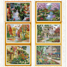 Embroidery-Kits Cross-Stitch-Package Canvas 11ct Count-Print 14ct Crafts Needlework DIY