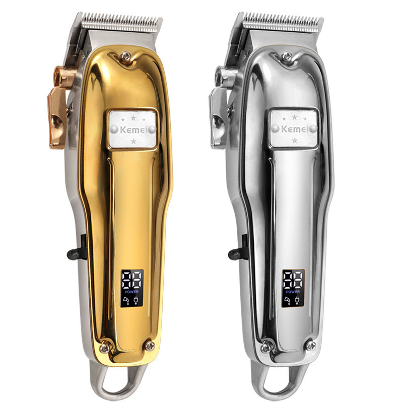 Kemei Electric Hair Trimmer KM-1983+PG 1984+PG 1986Z+PG Cordless Professional Rechargeable Hair Clipper Haircut Machine Metal
