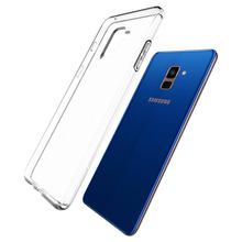 Transparent Silicone Case for Samsung Galaxy A8 A8+ Plus 2018 Soft TPU Clear Phone Back