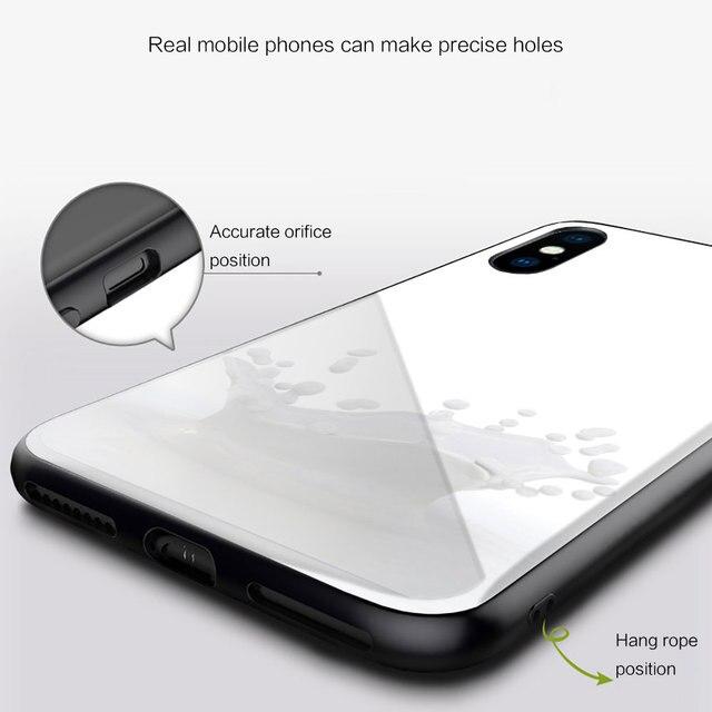 mleko ser Silicone Glass Phone Case For Xiaomi Redmi 9A 8A 7A Note 9 8 7 Pro Y3 9S 8T Balck Cover 5