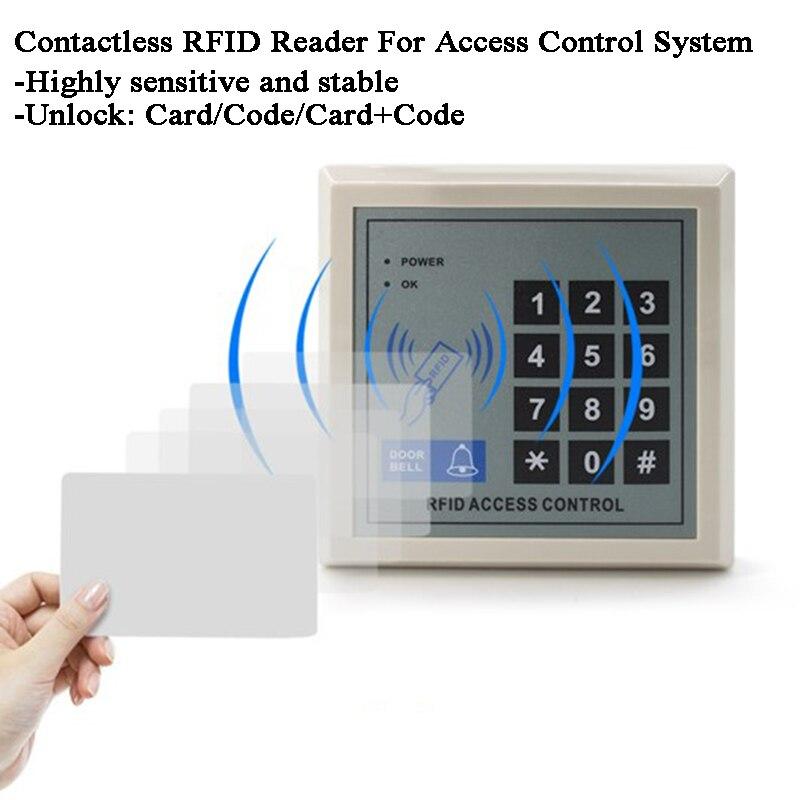 2000Users RFID Lock Digital Door Lock Keypad/Doorbell 125KHz Proximity RFID Reader Gate Opener Warehouse Hospital Garage Lock