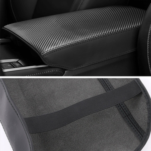Image 5 - Leather Car Armrest Pad Covers Console Auto Seat Arm Rest Pad Protection Cushion Mat AT For Honda Accord 10th 2018 Accessories