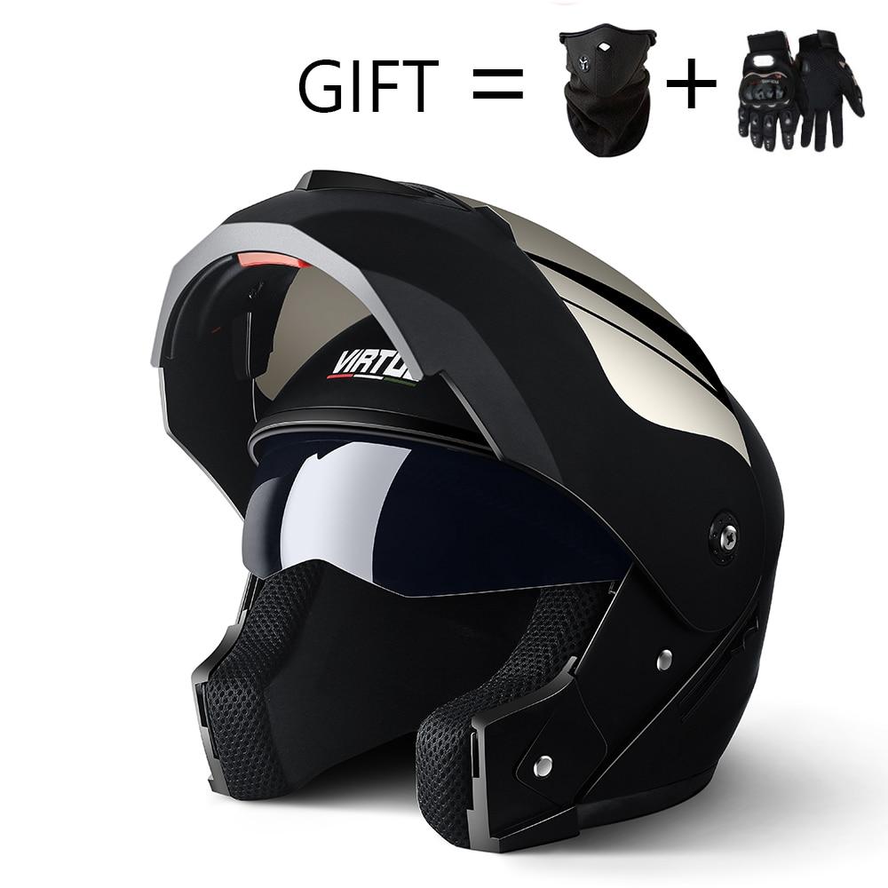 2019 Professional Racing Helmet Modular Dual Lens Motorcycle Helmet Full Face Safe Helmets Casco Capacete Casque Moto S M L 1
